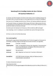 FSJ beim UHC Sparkasse Weißenfels